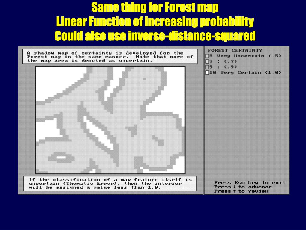 Same thing for Forest map