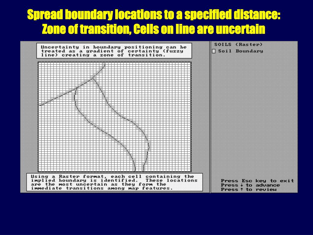 Spread boundary locations to a specified distance:
