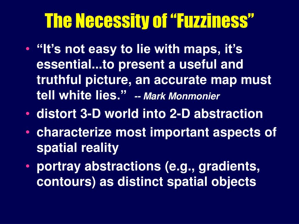 "The Necessity of ""Fuzziness"""