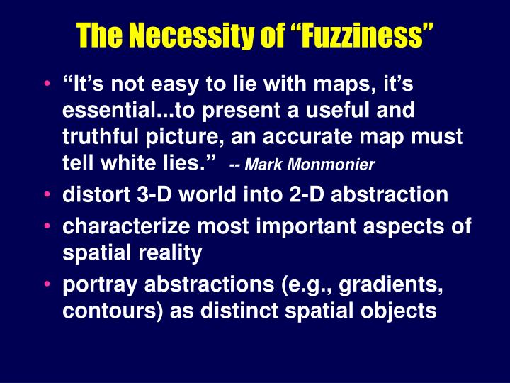 The necessity of fuzziness