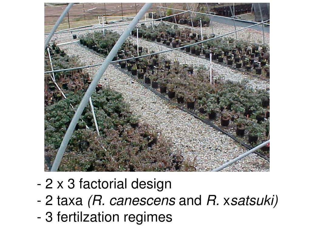 2 x 3 factorial design