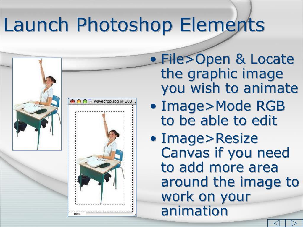 Launch Photoshop Elements