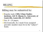 billing may be submitted by