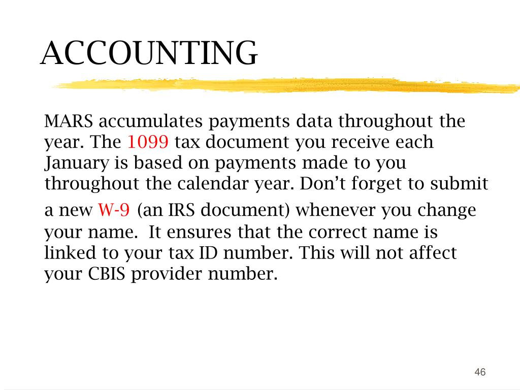 MARS accumulates payments data throughout the year. The