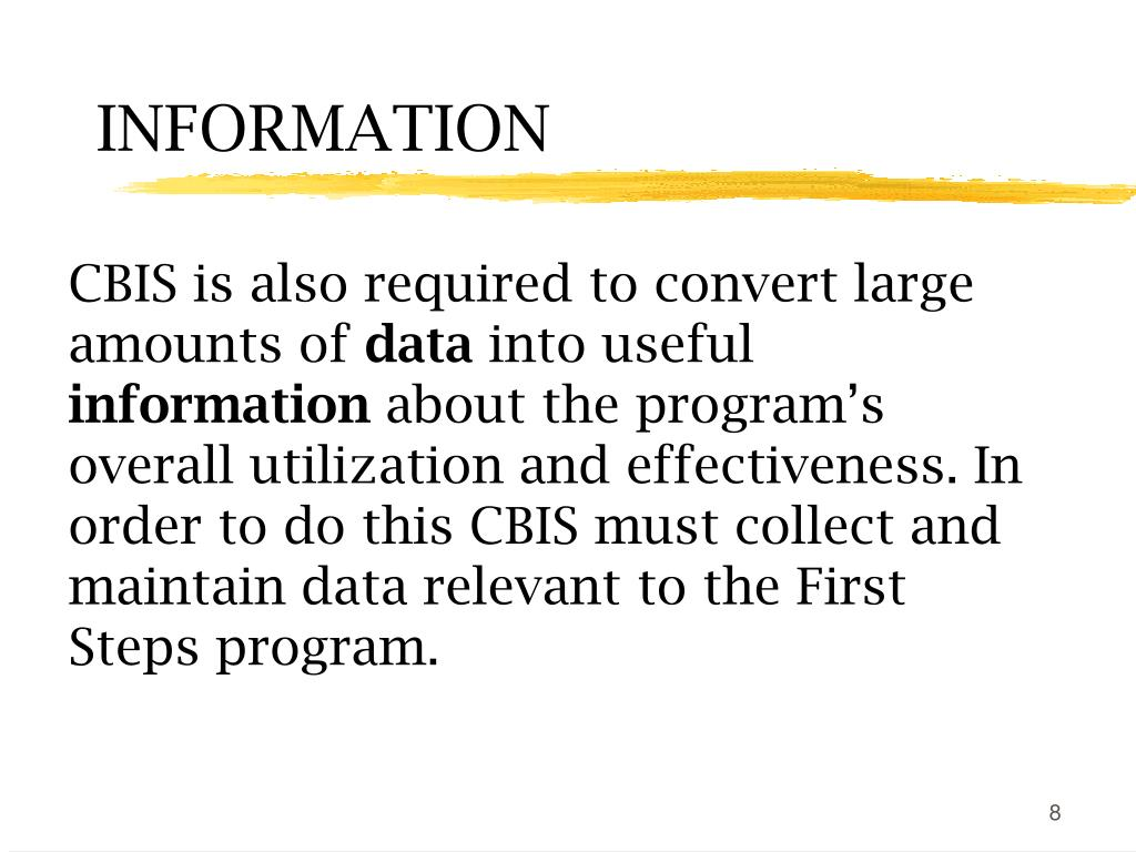 CBIS is also required to convert large amounts of
