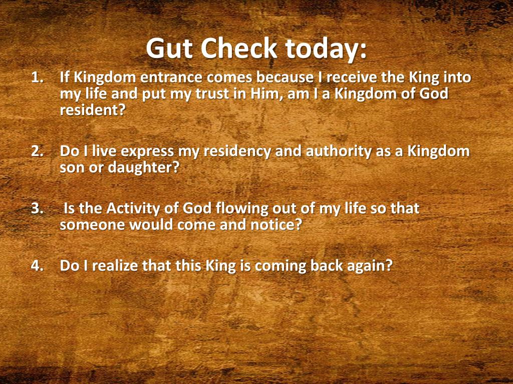 Gut Check today: