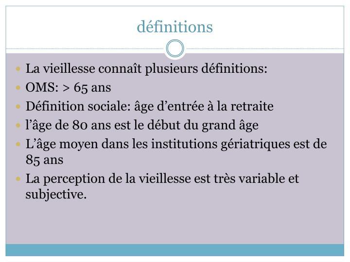 définitions