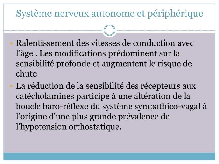 Système nerveux autonome et périphérique
