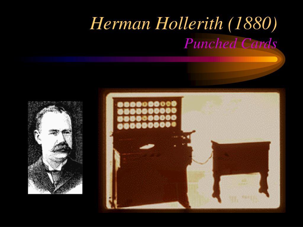 Herman Hollerith (1880)