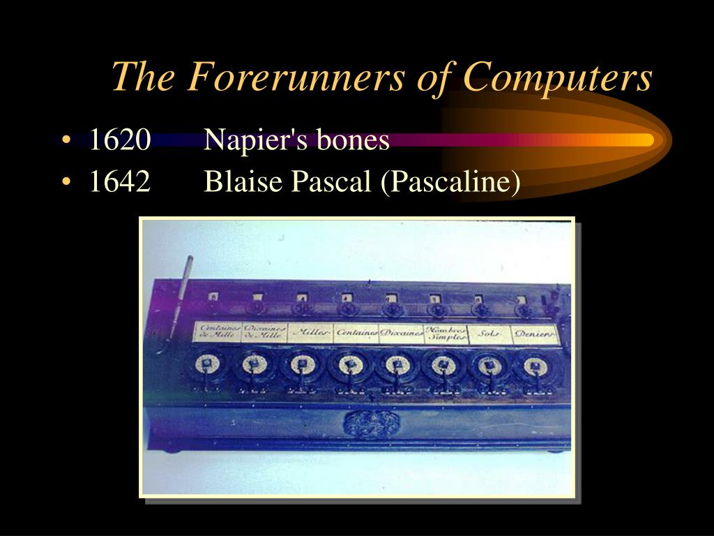 The Forerunners of Computers