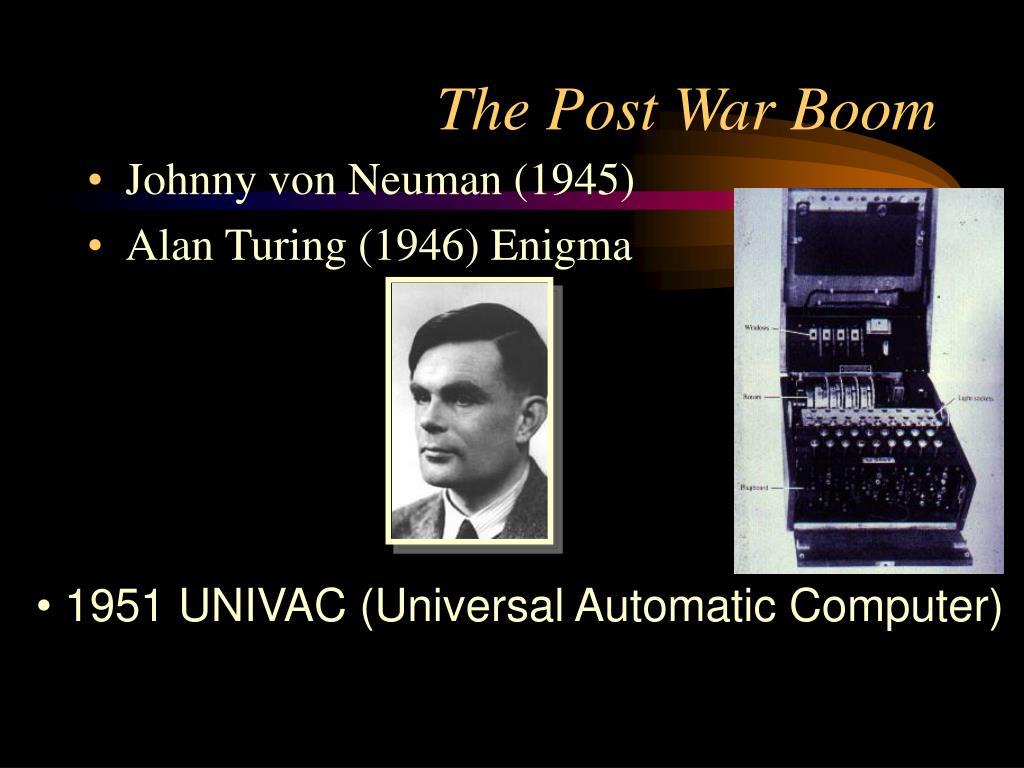 The Post War Boom