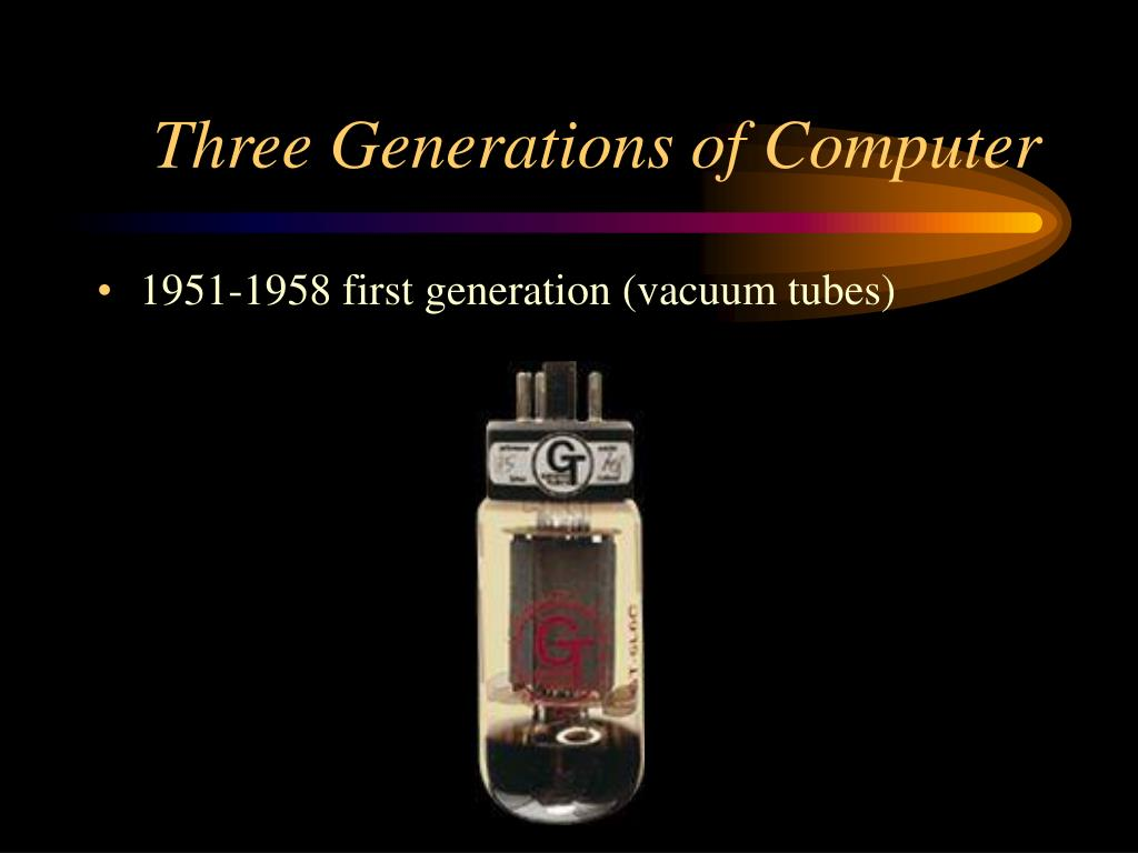 Three Generations of Computer