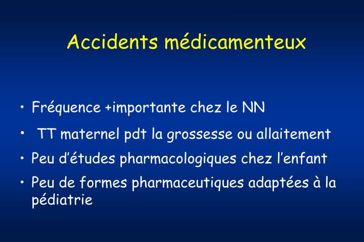 Accidents médicamenteux