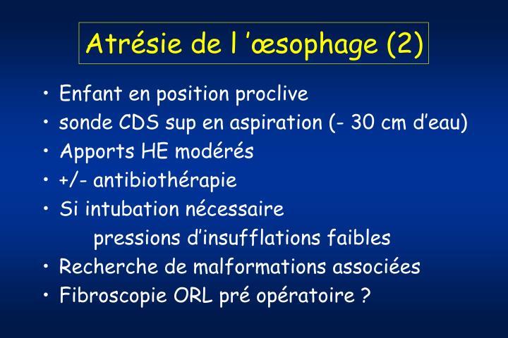 Atrésie de l'œsophage (2)