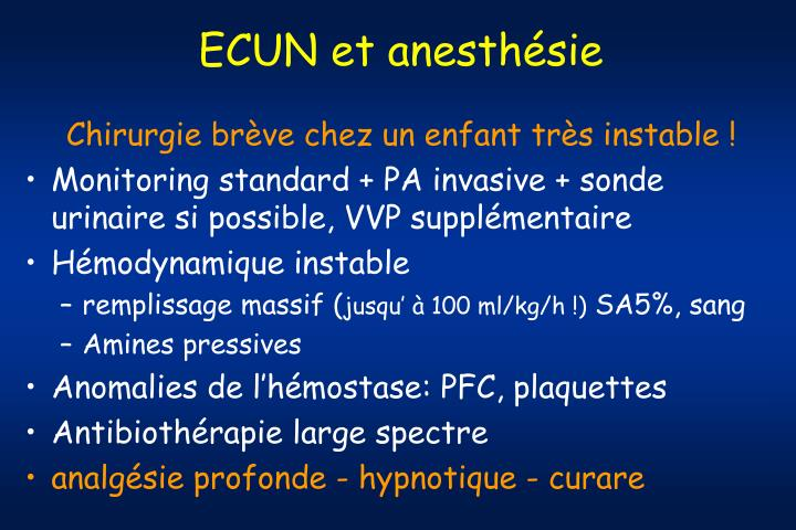 ECUN et anesthésie