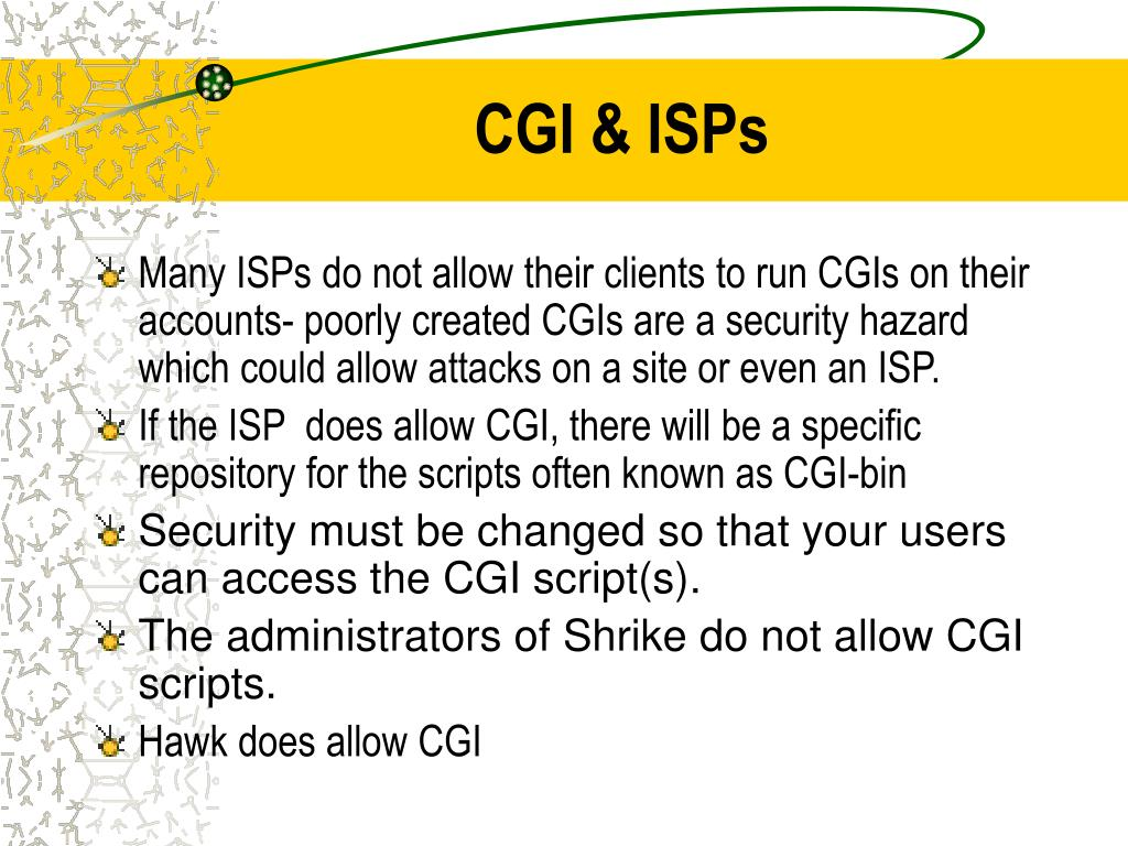 CGI & ISPs