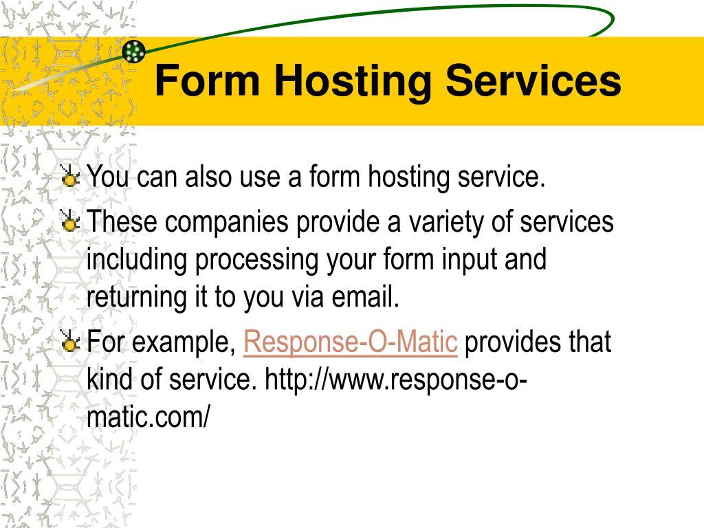 Form Hosting Services