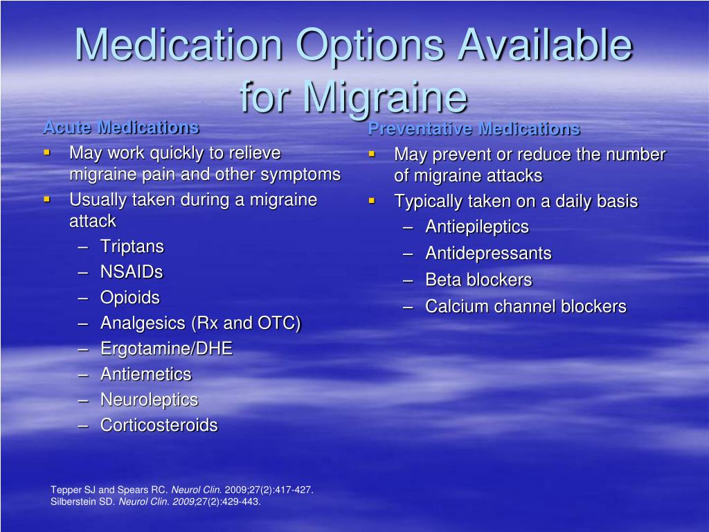 Preventative Medications