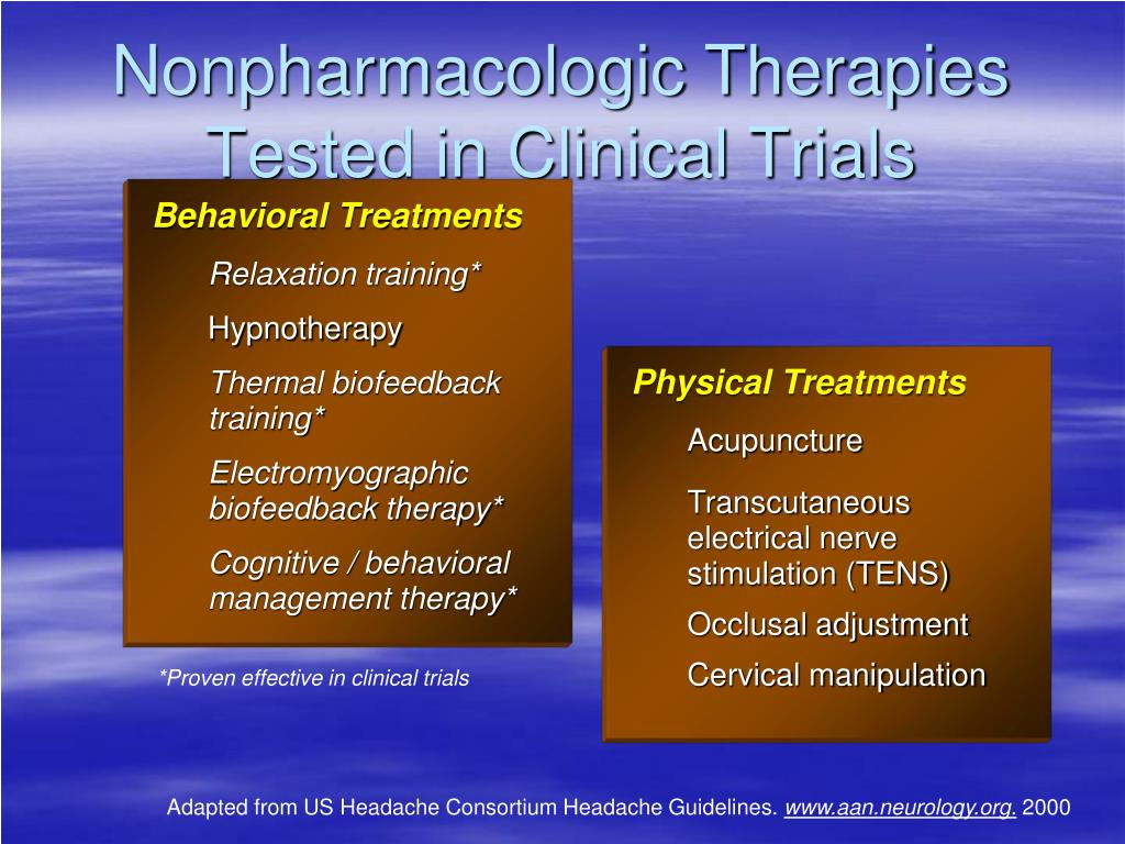 Nonpharmacologic Therapies