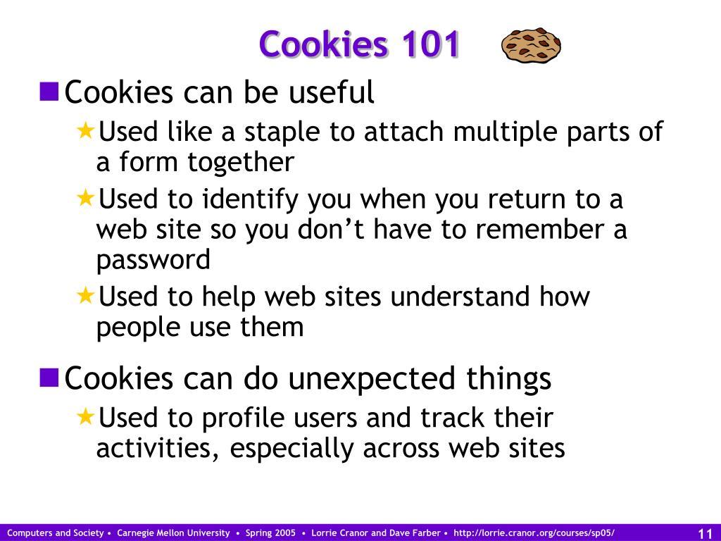 Cookies 101