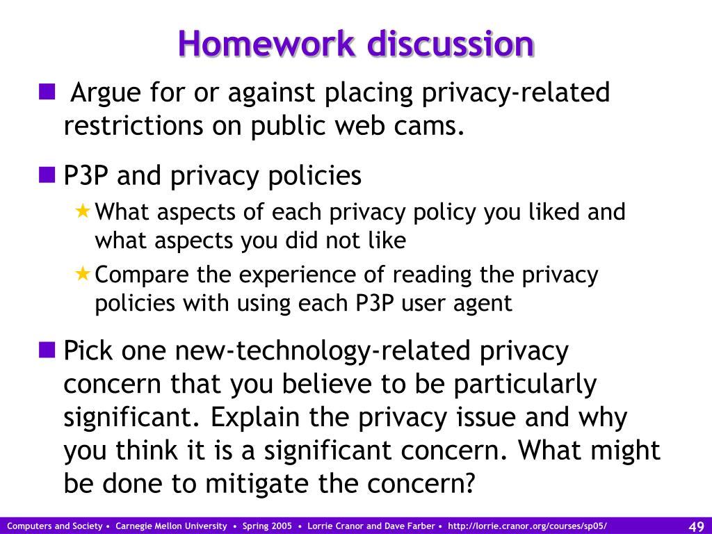 Homework discussion