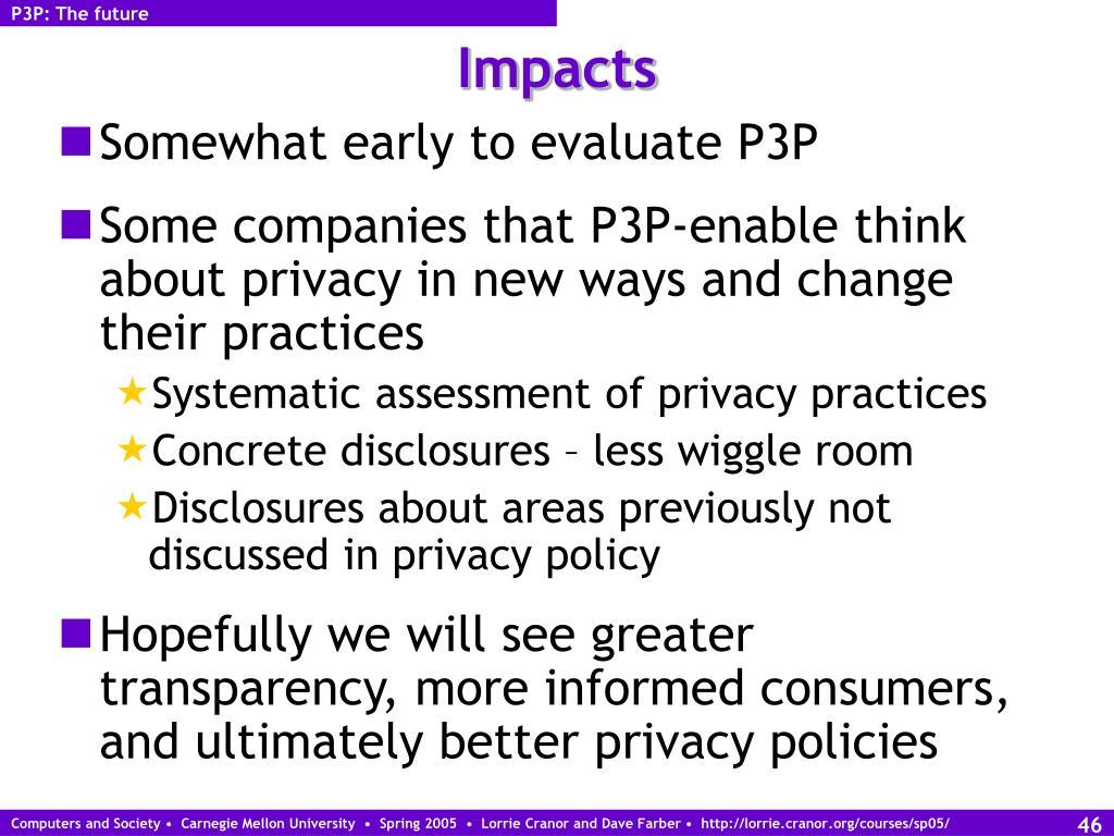 P3P: The future