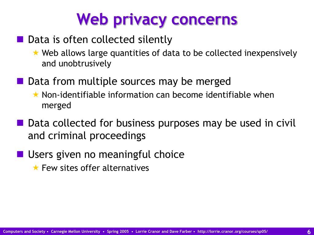 Web privacy concerns