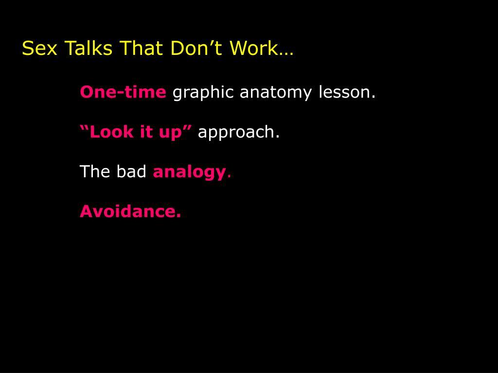 Sex Talks That Don't Work…