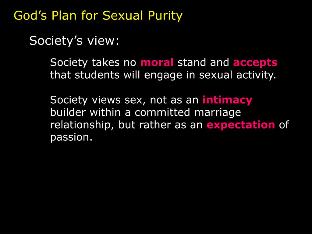 God's Plan for Sexual Purity