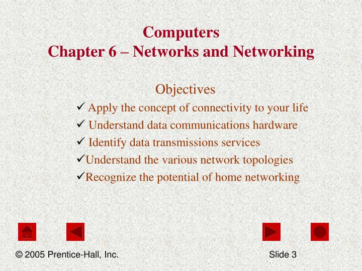 Computers chapter 6 networks and networking