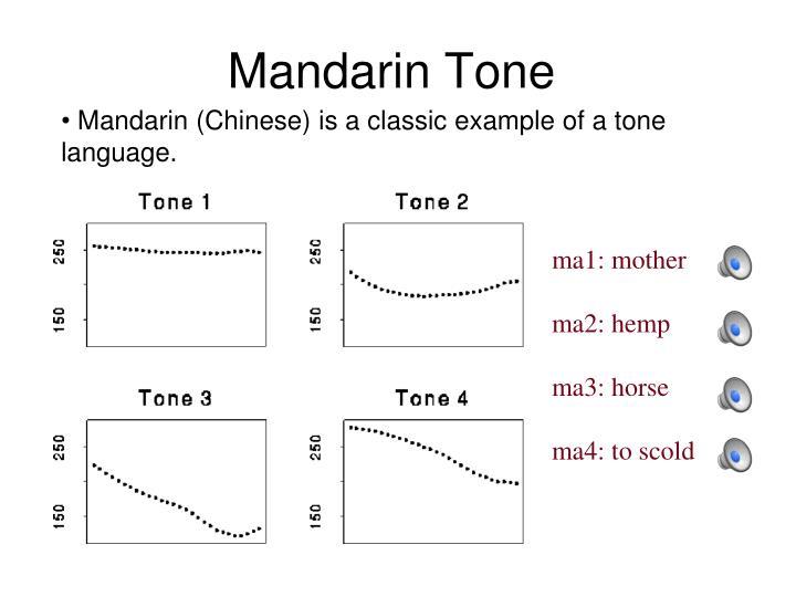 Mandarin Tone