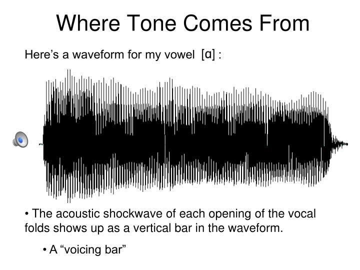 Where Tone Comes From