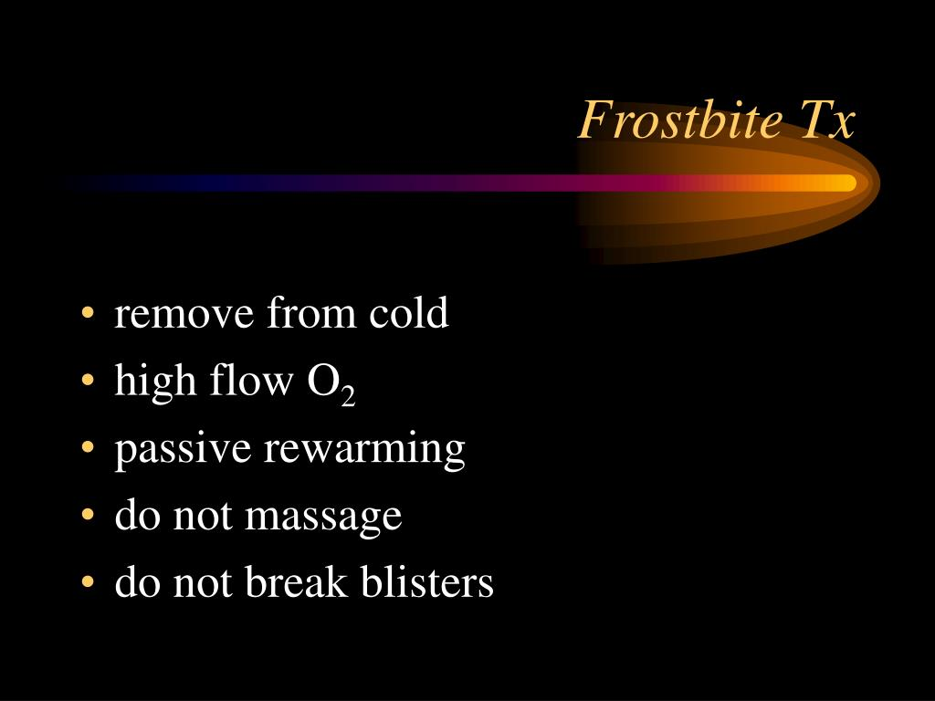 Frostbite Tx