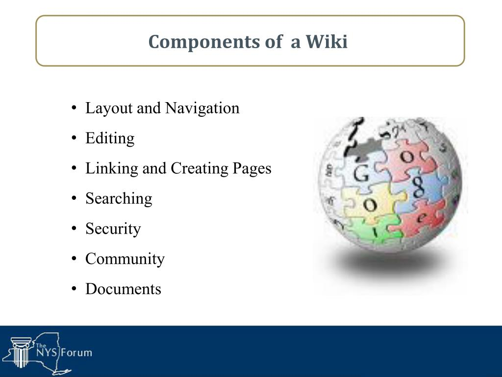Components of  a Wiki