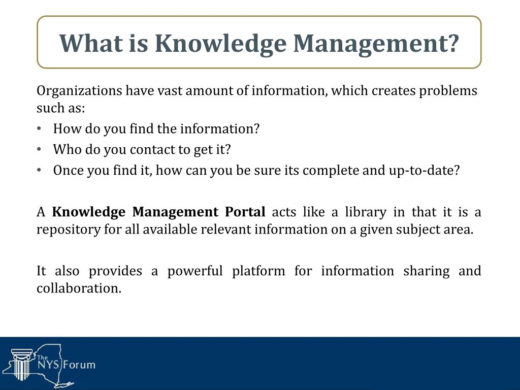 What is Knowledge Management?