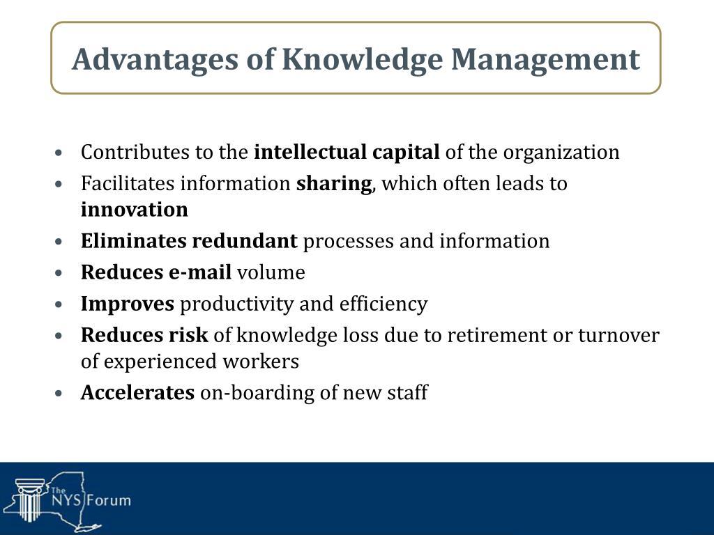 Advantages of Knowledge Management