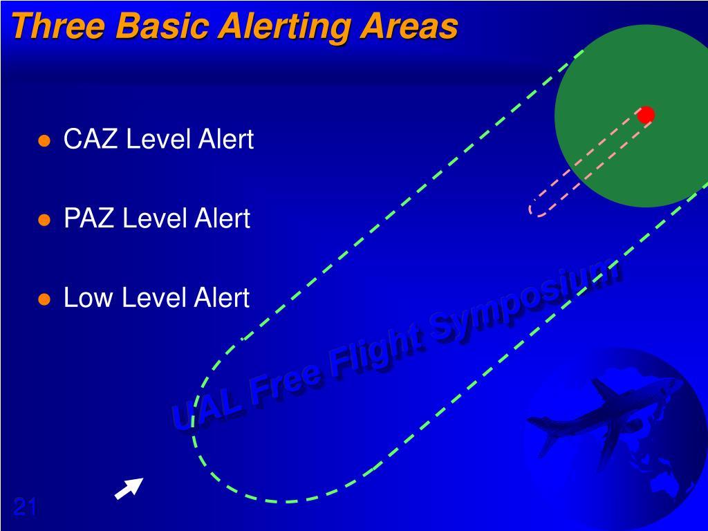 Three Basic Alerting Areas