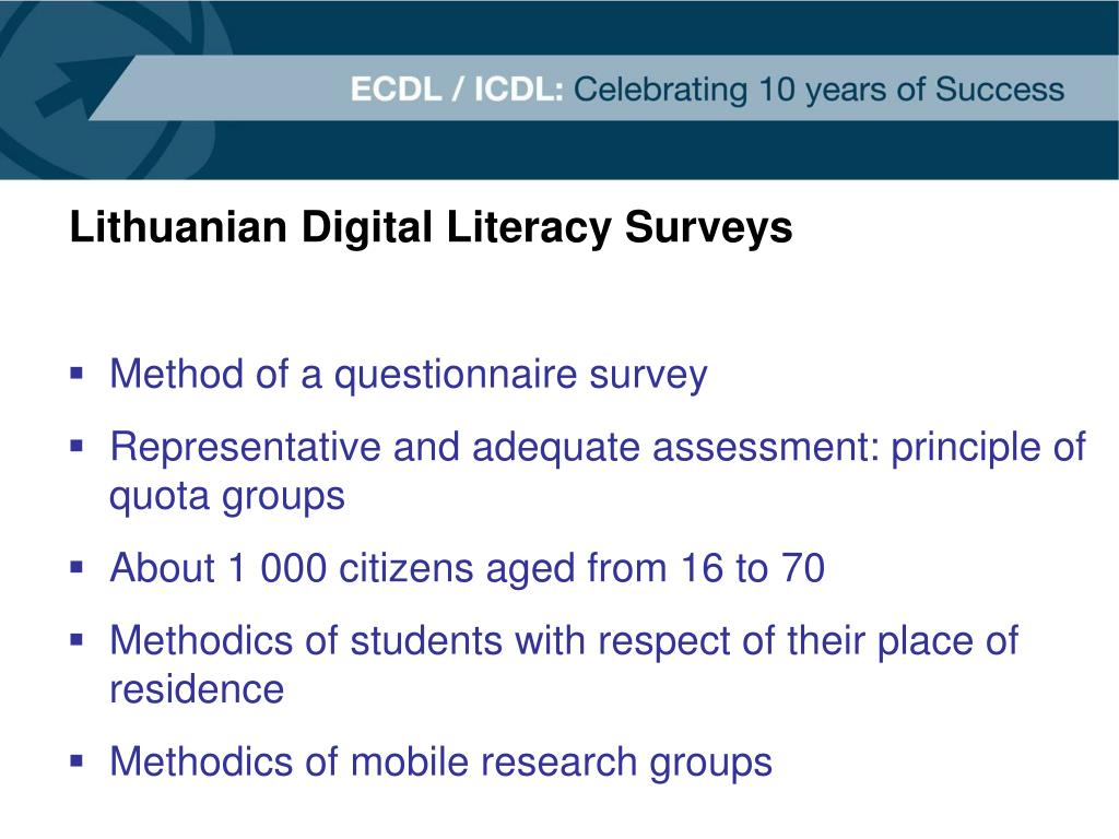 Lithuanian Digital Literacy Surveys