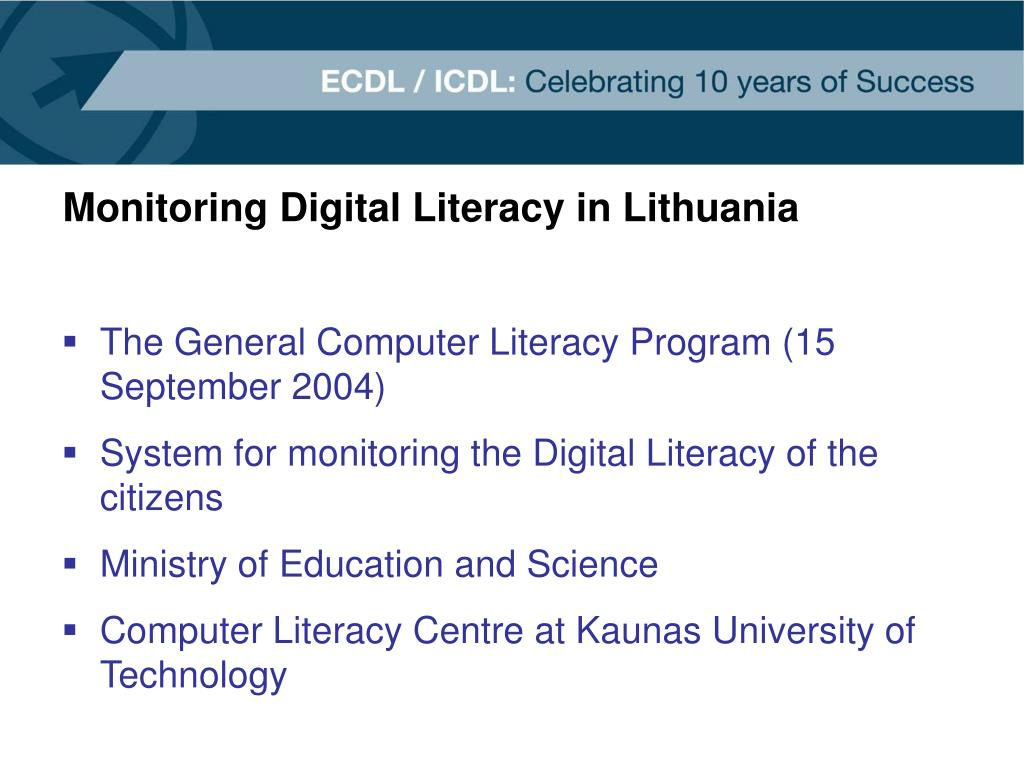 Monitoring Digital Literacy in Lithuania