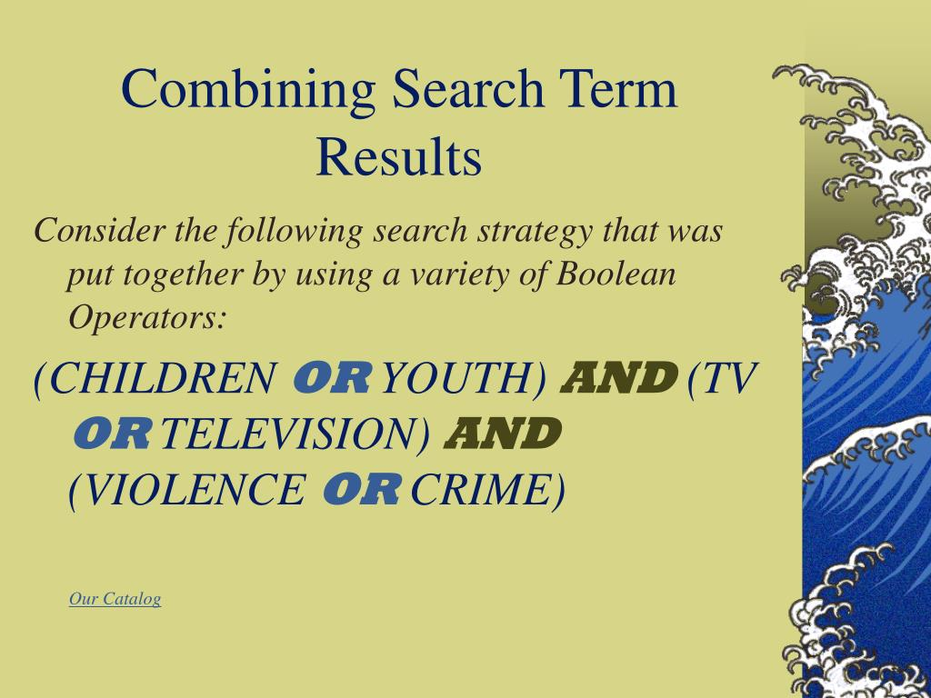 Combining Search Term Results
