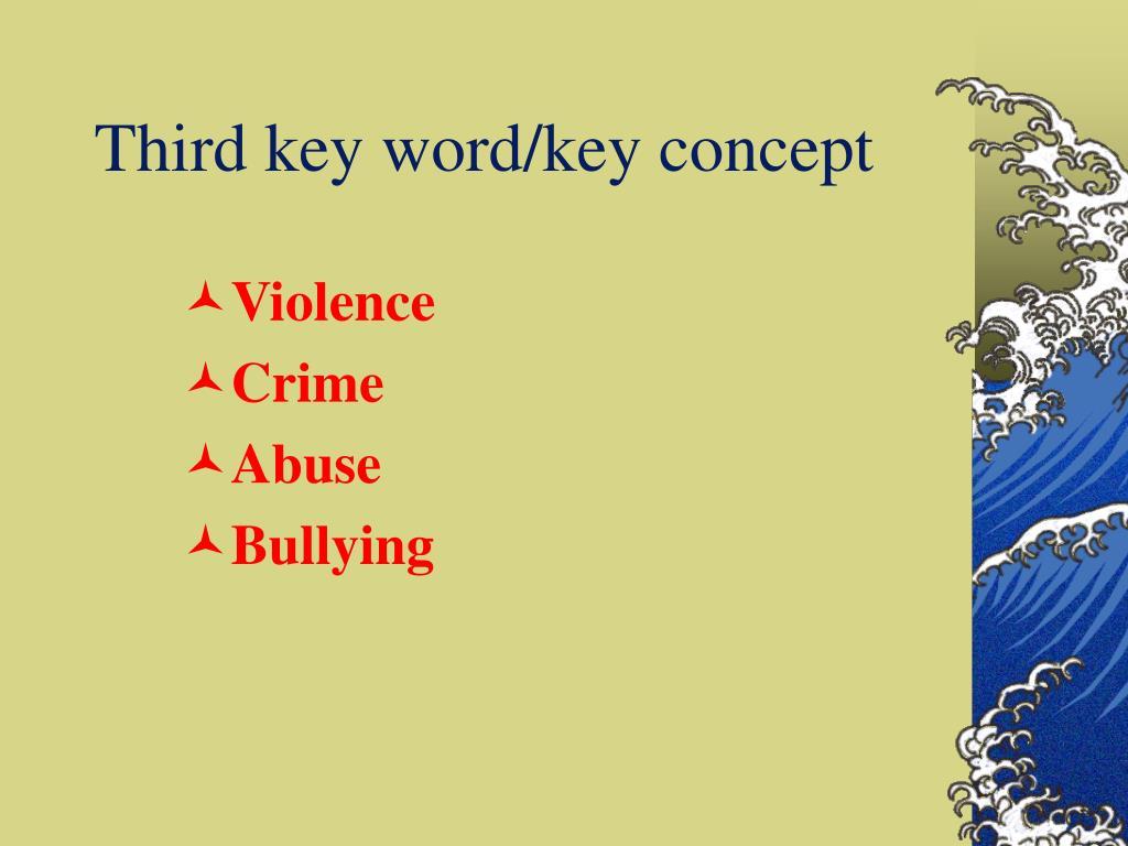 Third key word/key concept