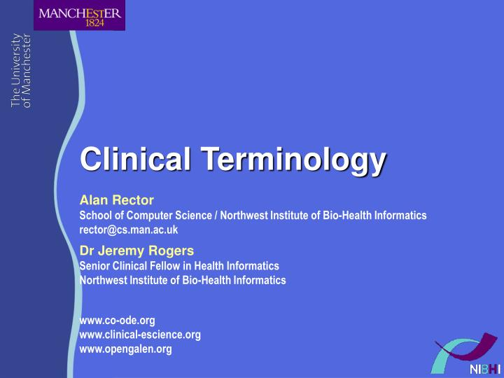 Clinical terminology l.jpg