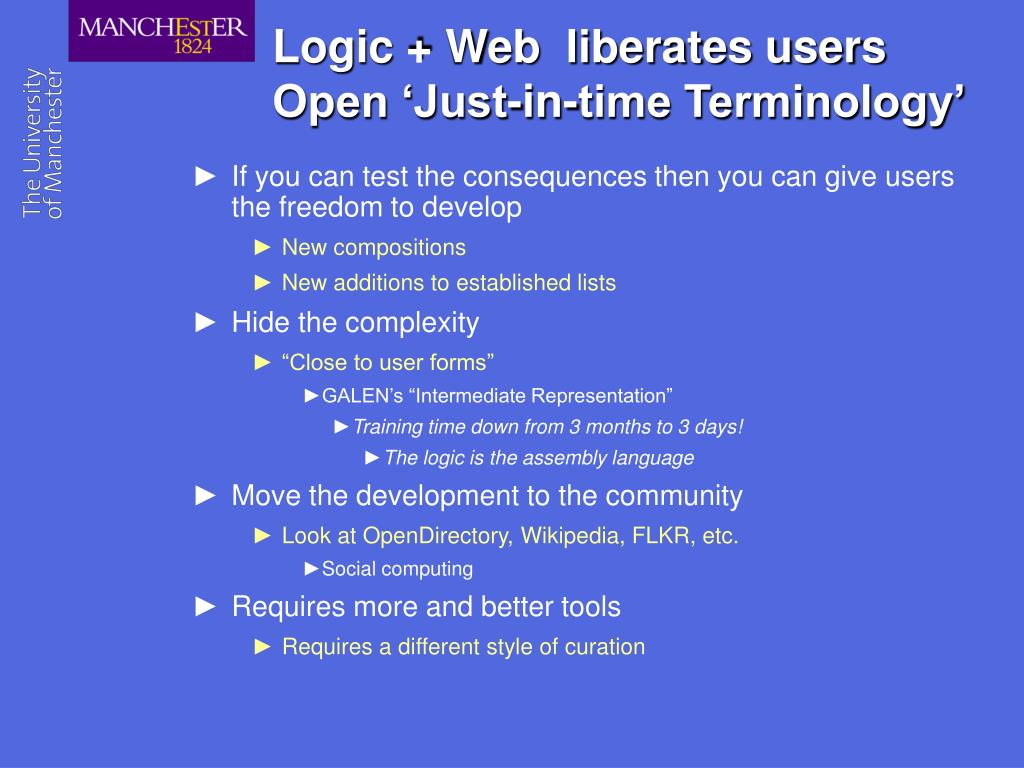 Logic + Web  liberates users