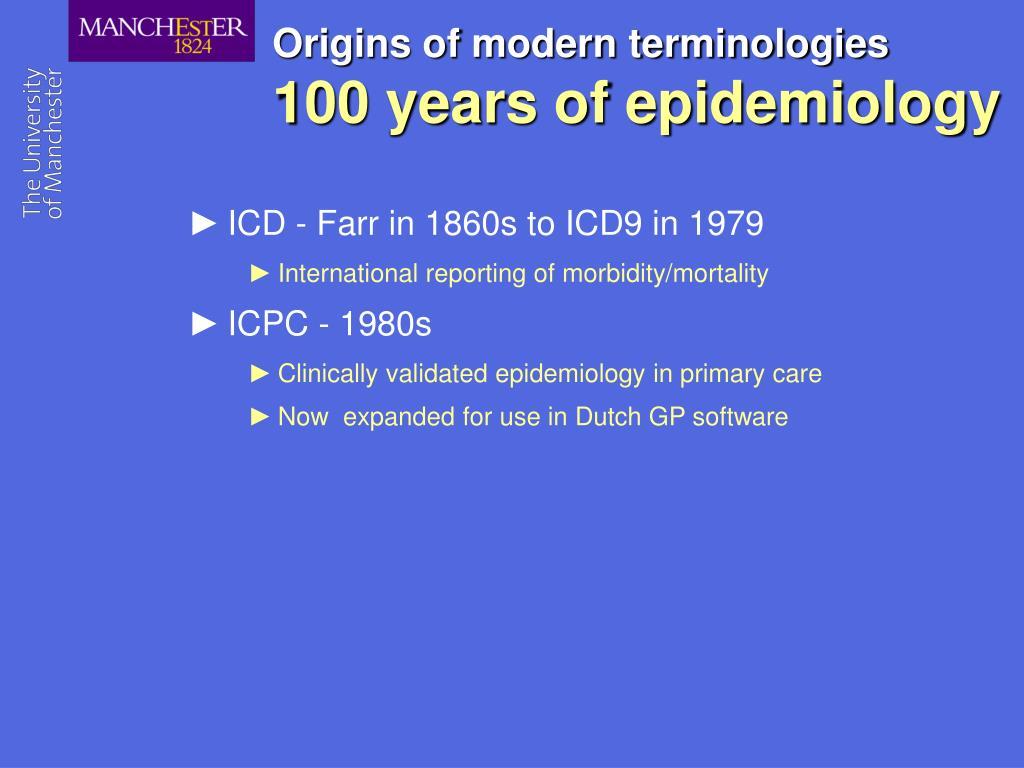 Origins of modern terminologies