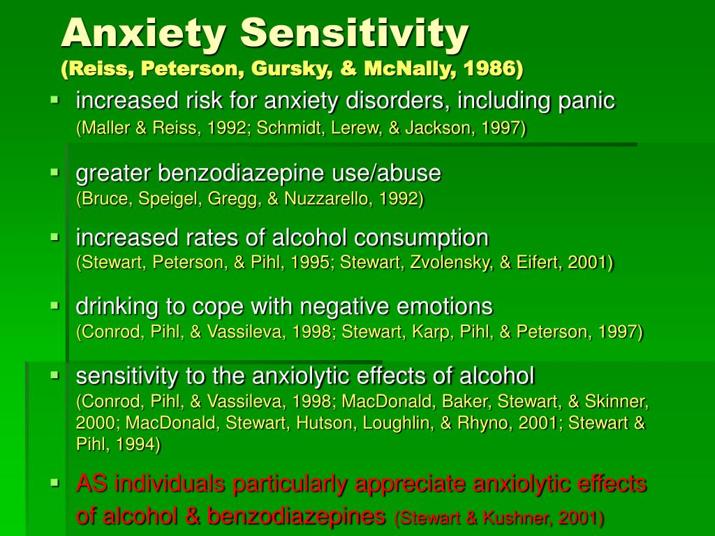 Anxiety Sensitivity