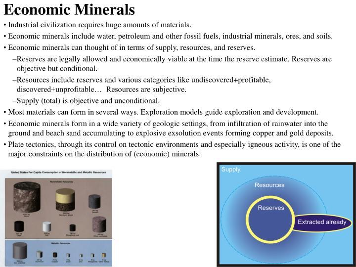 Economic Minerals