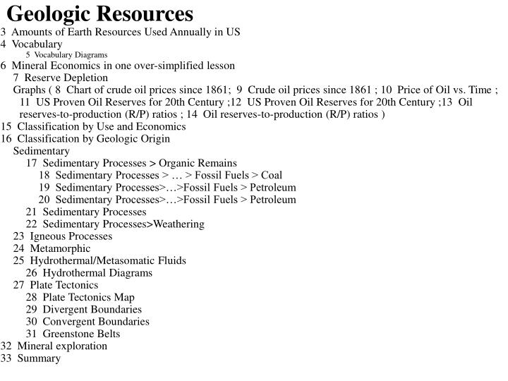 Geologic resources1