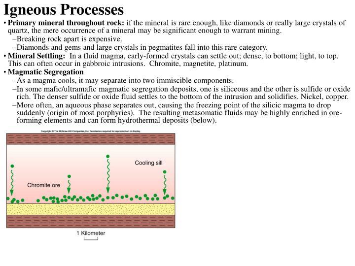Igneous Processes
