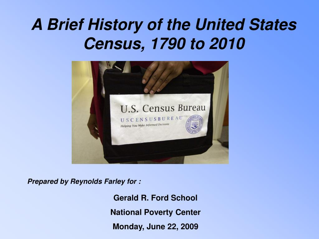 A Brief History of the United States Census, 1790 to 2010