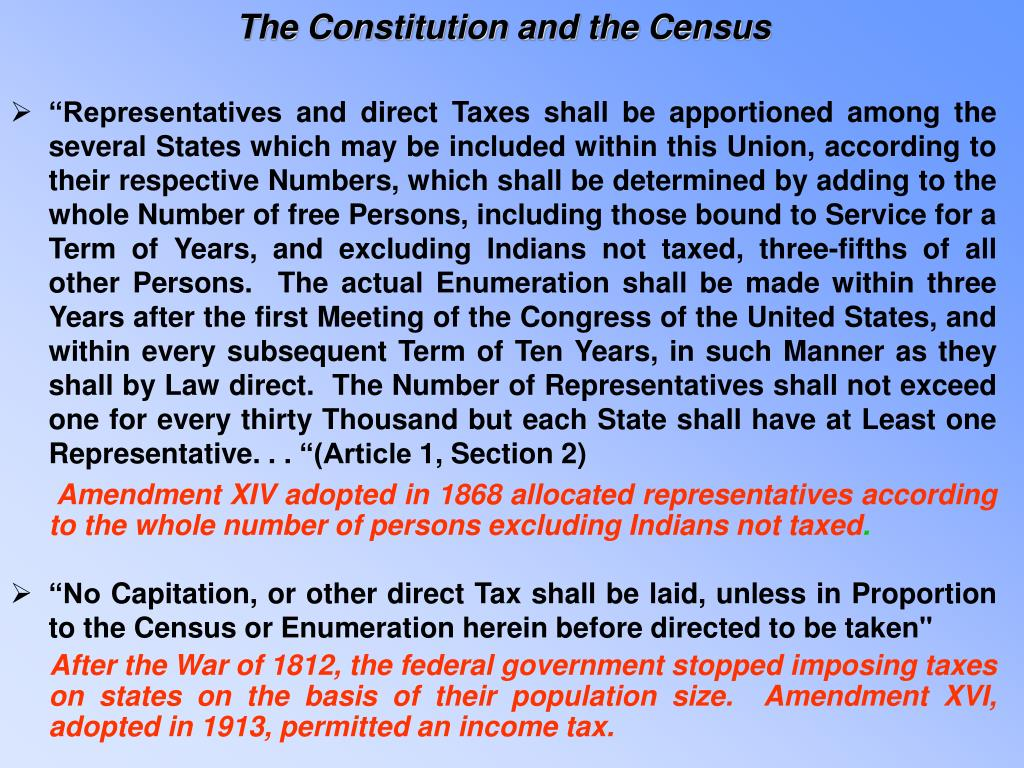 The Constitution and the Census